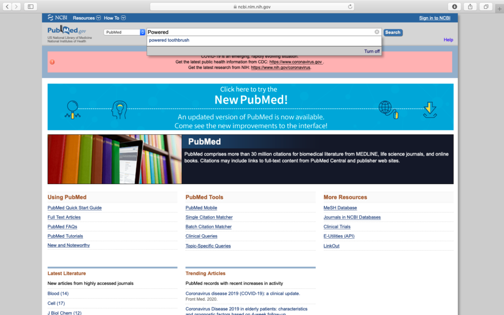 come usare pubmed